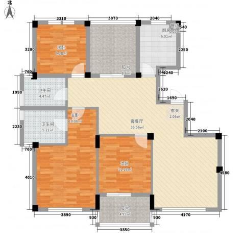 风格城事3室1厅2卫1厨148.00㎡户型图