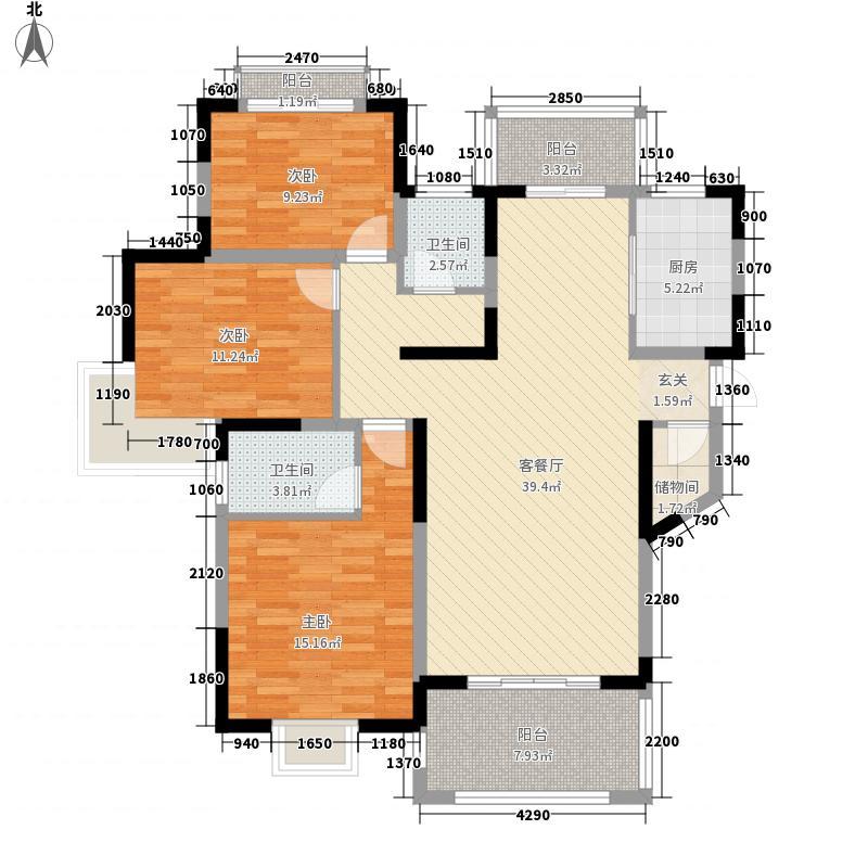 绿苑休闲住宅145.00㎡小区户型3室
