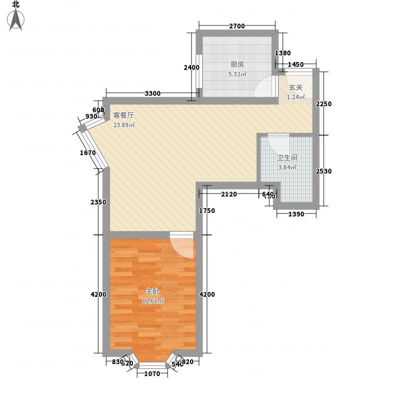 群力新村40.00㎡群力新村1室户型1室