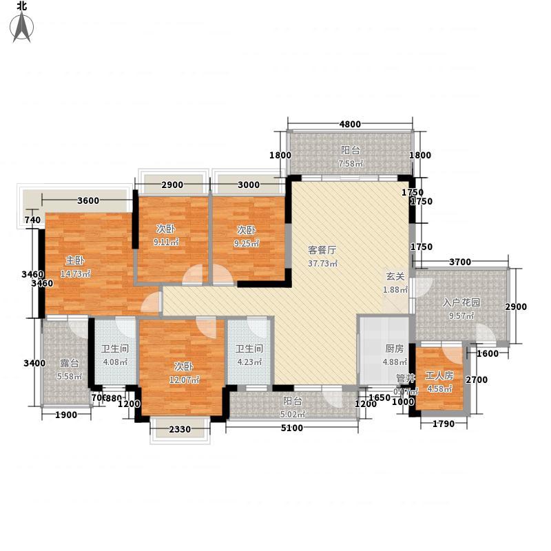 昊盛小区150户型4室2厅2卫1厨
