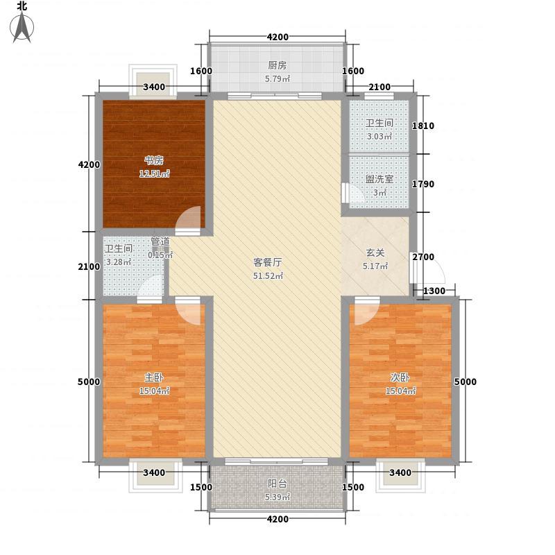 曲江新苑E户型4室2厅2卫1厨
