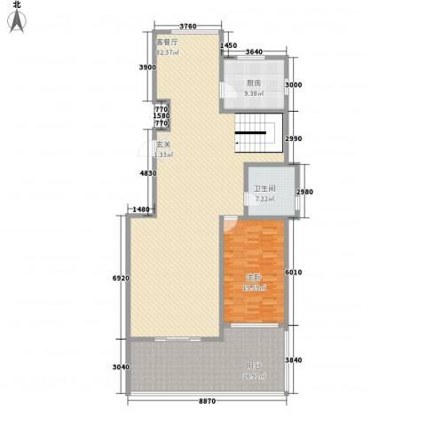 蓝柏湾1室1厅1卫1厨145.47㎡户型图