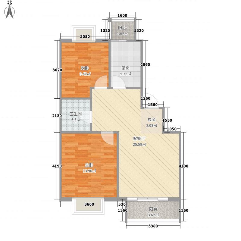 青城小区81.60㎡青城小区户型图2室2厅1卫户型10室