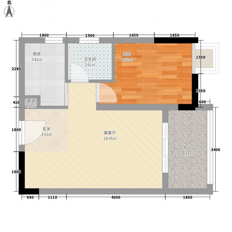 冠宏时代一期高层2号楼标准层C1户型