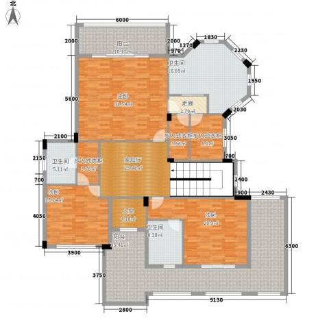 荷兰水乡3室0厅3卫0厨187.42㎡户型图
