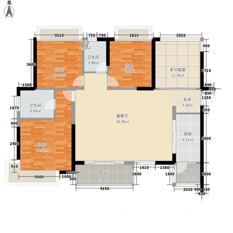 美的城142.00㎡美的城户型图18栋G户型4室2厅2卫1厨户型4室2厅2卫1厨