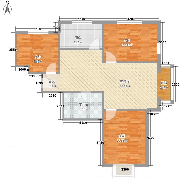 青城小区90.40㎡青城小区户型图3室2厅1卫户型10室