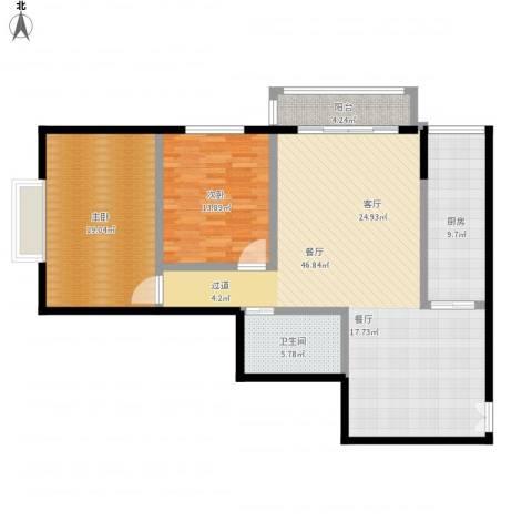天天家园2室1厅1卫1厨141.00㎡户型图