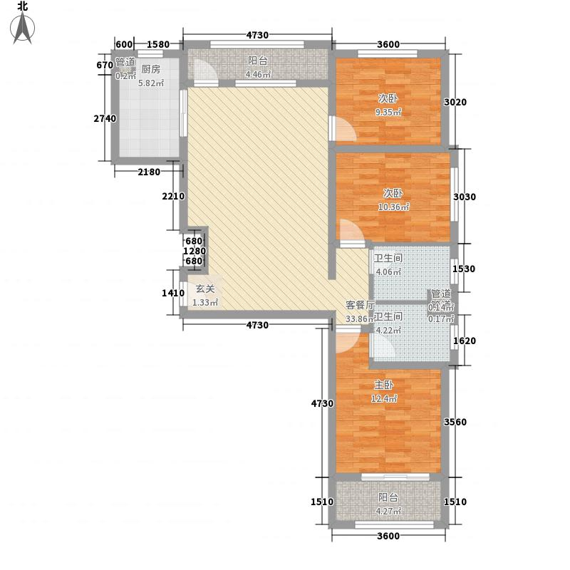 阳光心屿115.10㎡三居01型图户型3室2厅2卫1厨