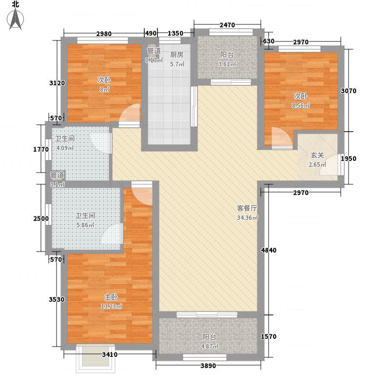 阳光心屿118.00㎡三居05户型3室2厅2卫1厨