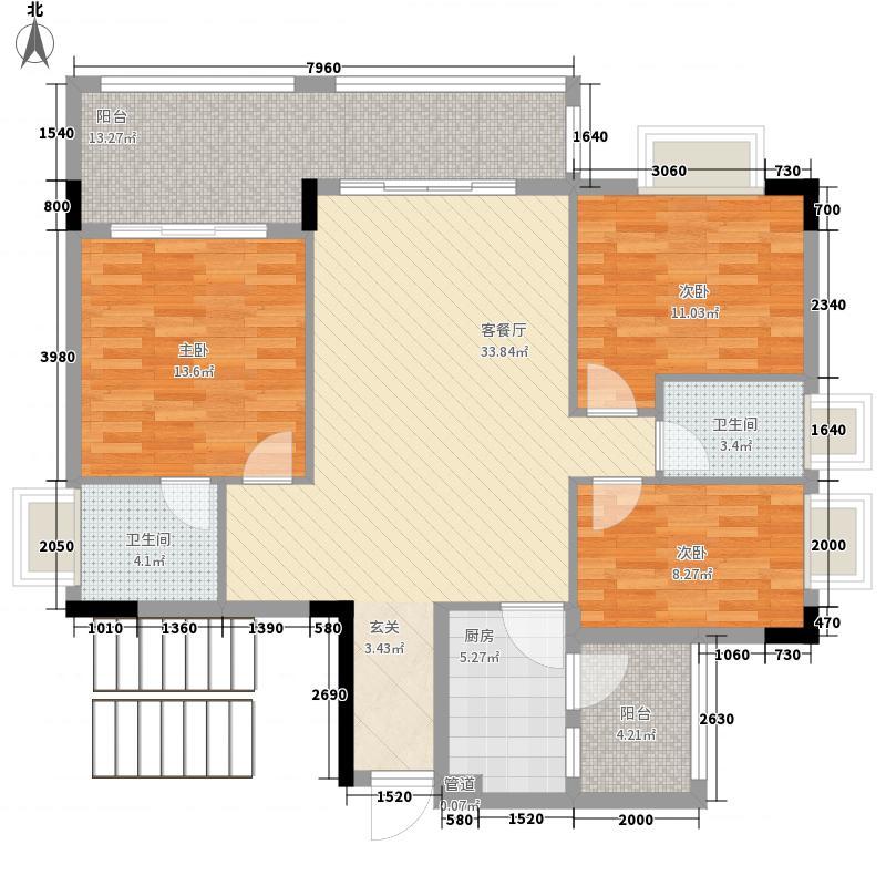 东江花苑108.70㎡东江花苑户型图1座01单元3室2厅2卫户型3室2厅2卫
