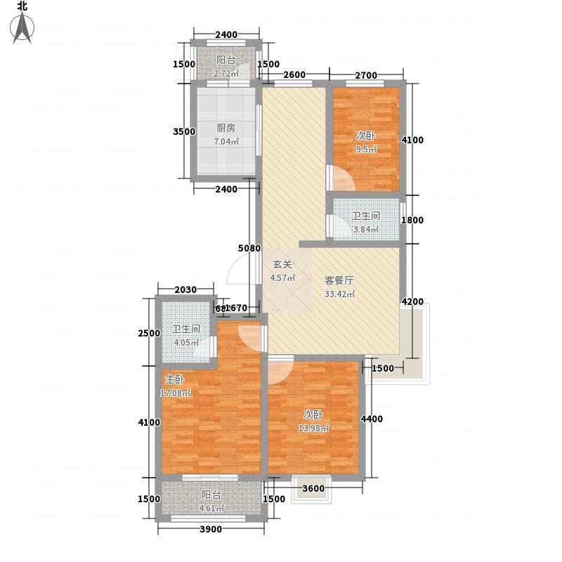 天泰・玉泽园142.00㎡D户型3室2厅2卫1厨