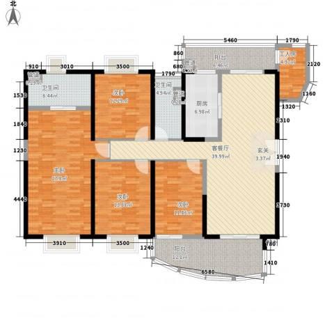 中海金沙熙岸4室1厅2卫1厨147.90㎡户型图