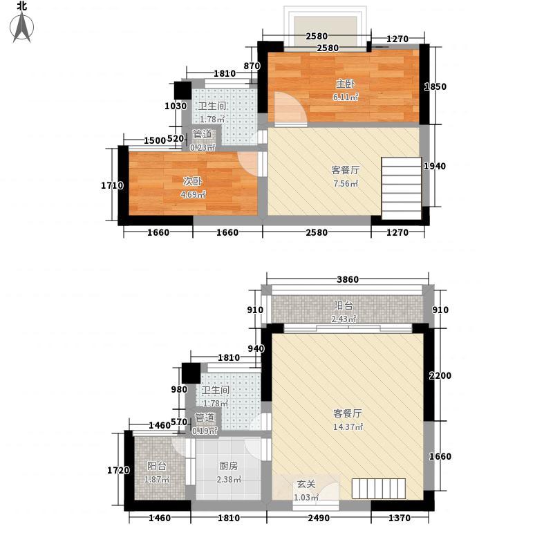 奥林匹克花园四期106.00㎡房型: 复式; 面积段: 106 -115 平方米;户型