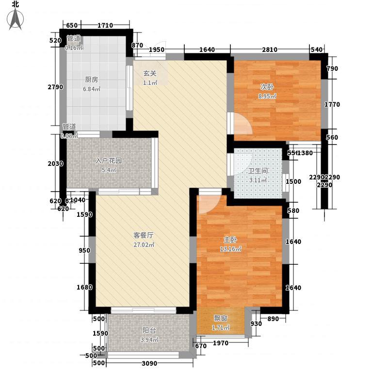 蓝鼎滨湖假日枫丹园1278663397864_000户型2室2厅1卫1厨