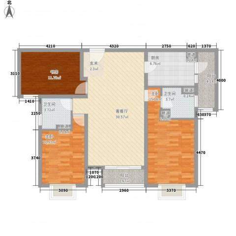 建筑十策3室1厅2卫1厨133.00㎡户型图