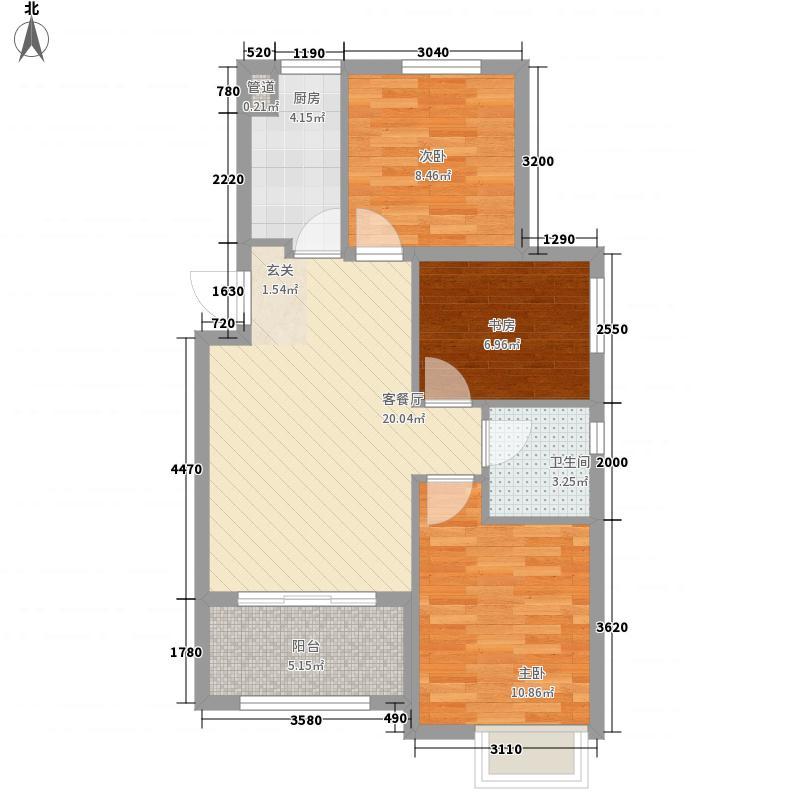 绿地・海域香庭88.00㎡C户型3室2厅1卫
