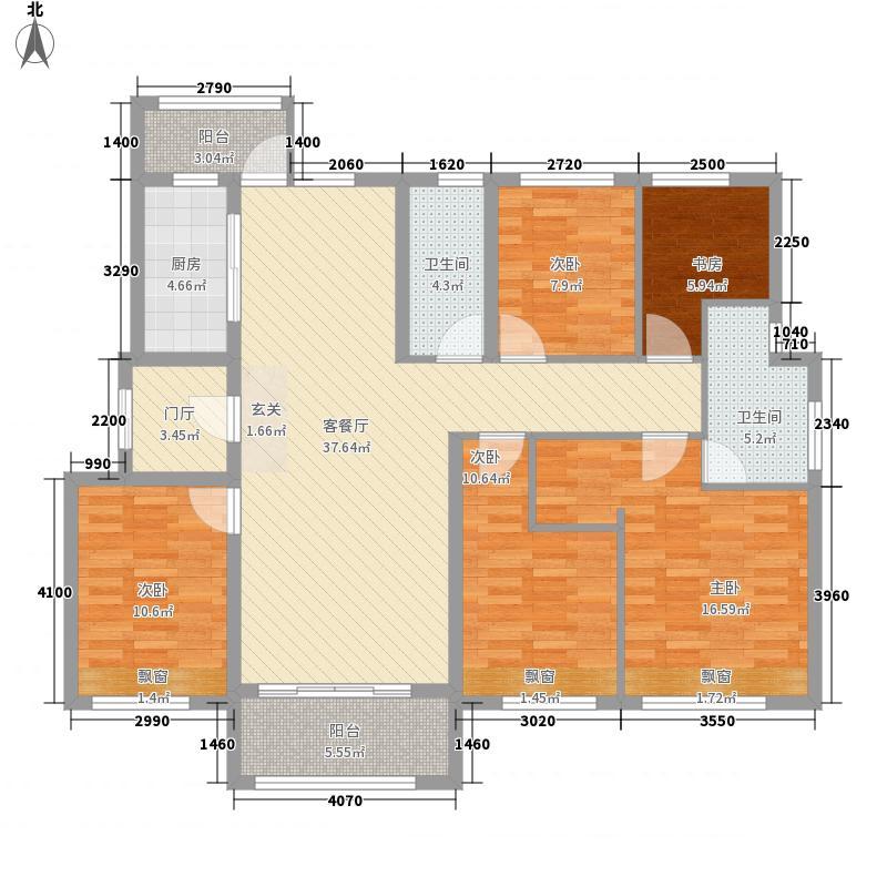 御香园165.00㎡户型3室2厅2卫1厨