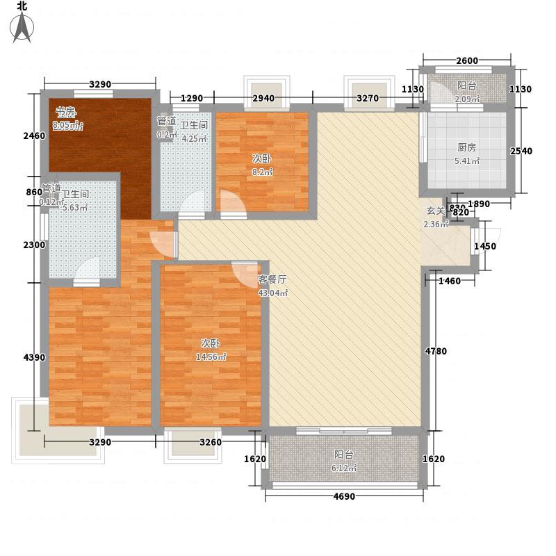 青岛海上嘉年华3室1厅2卫1厨163.00㎡户型图