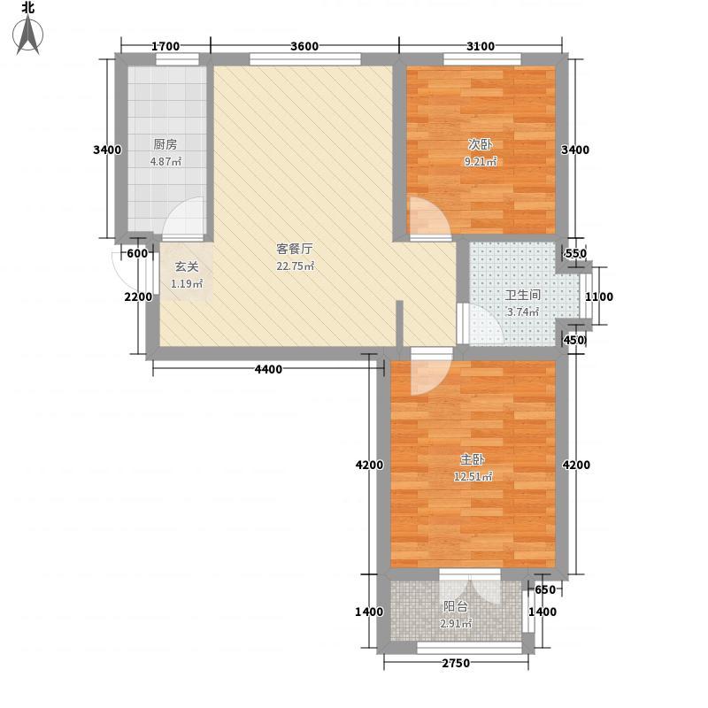嘉平8090高层1#、13#标准层A1户型