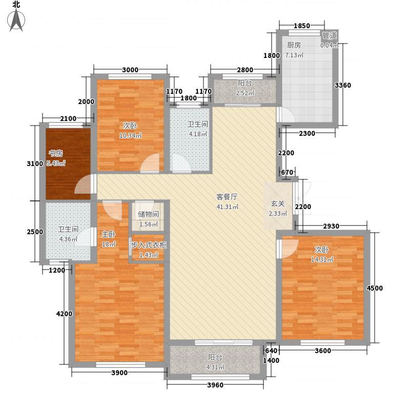 天房海天园高层标准层H户型