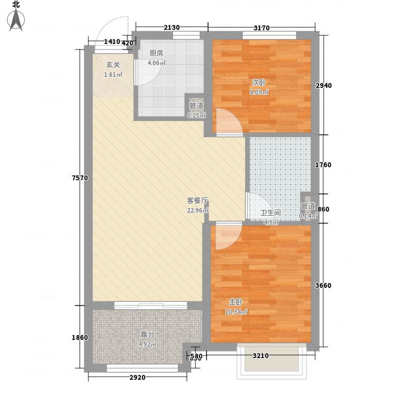 绿地・海域香庭78.00㎡B户型3室2厅1卫