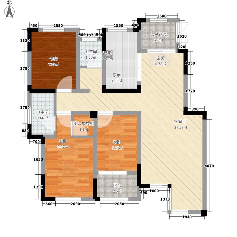 红豆杉养生谷4.60㎡J户型3室2厅2卫1厨