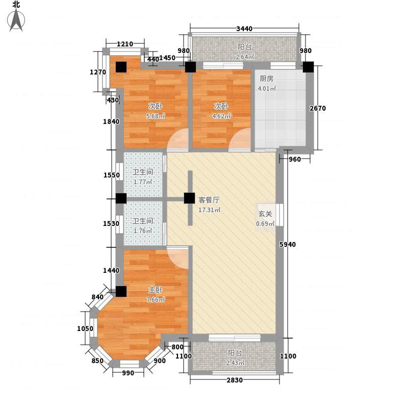 鹦鹉小路沿线房70.00㎡鹦鹉小路沿线房70.00㎡2室户型2室