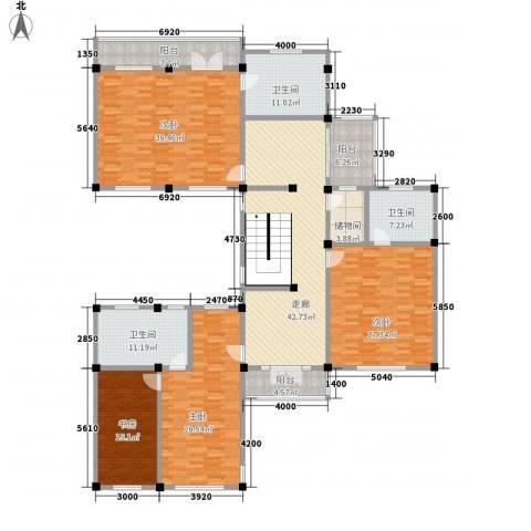 桃坞巷4室0厅3卫0厨889.00㎡户型图