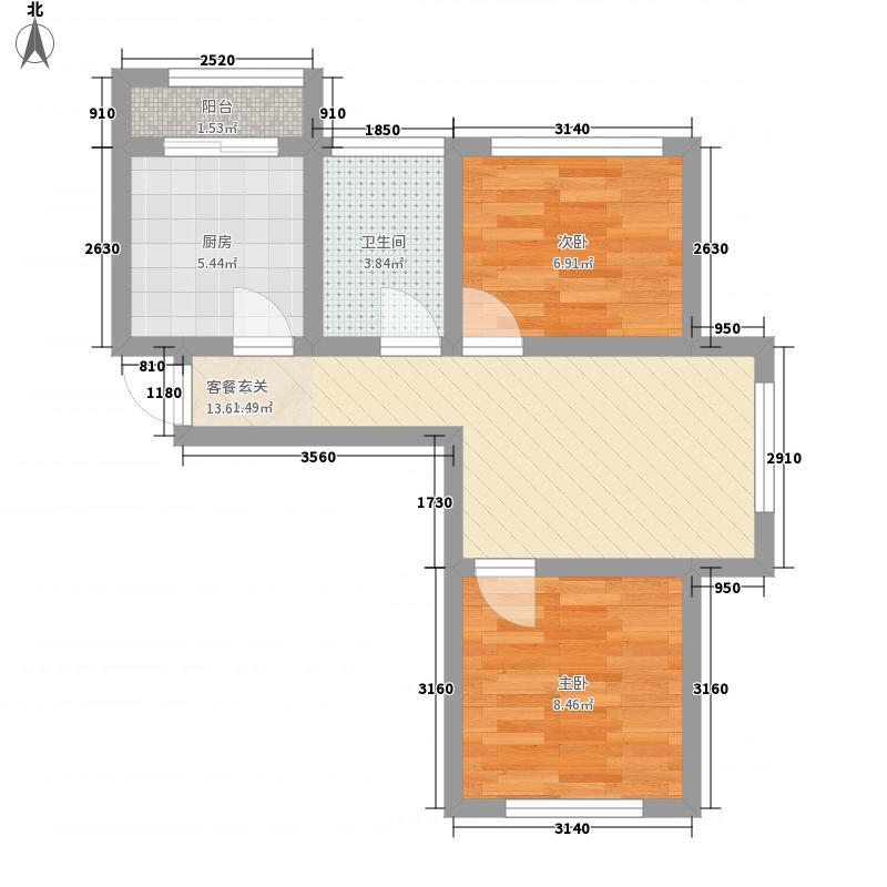 尚港华府高层5号楼标准层A'户型