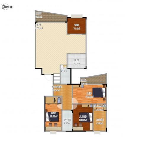 聚豪园4室1厅3卫1厨189.00㎡户型图