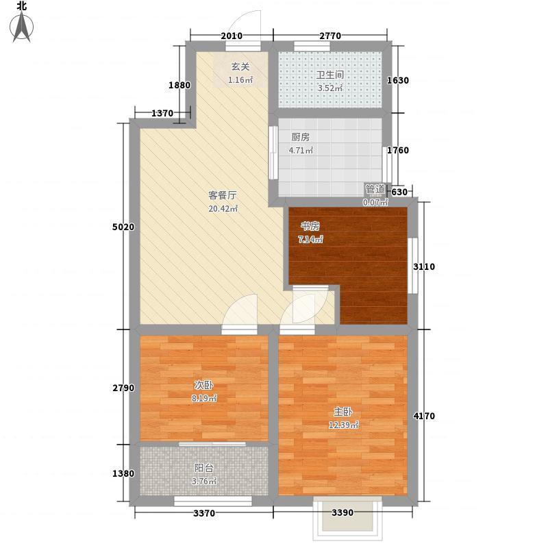 富康嘉苑二期87.00㎡2期-F22户型3室2厅1卫1厨