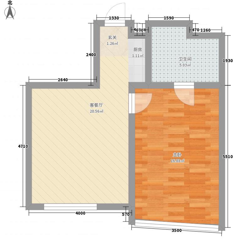 宝翠园户型图20071207-4号楼C户型 1室1厅1卫