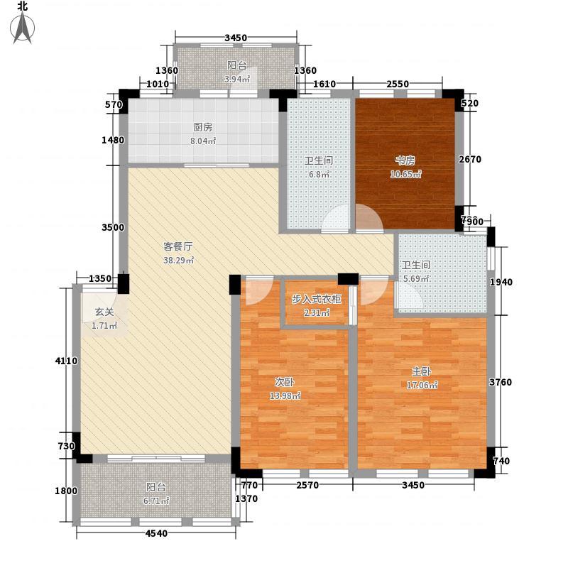 格兰春天铂园A1户型3室2厅2卫