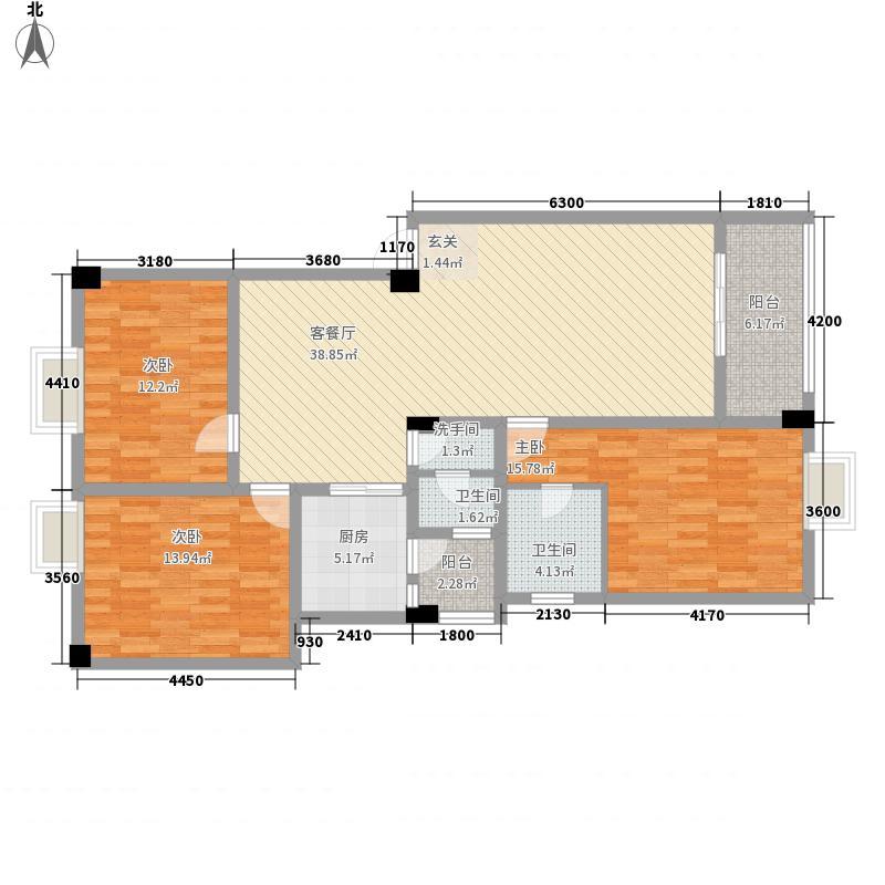 江都花园125.49㎡江都花园K三室两厅两卫125.49平米3室2厅2卫125.49㎡户型3室2厅2卫
