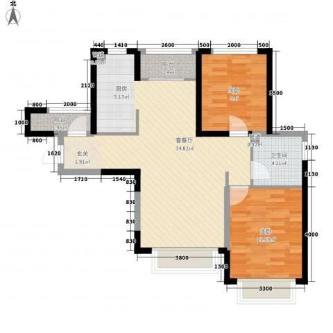 旺城温莎郡2室1厅1卫0厨93.00㎡户型图