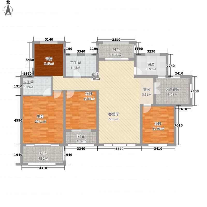 农房尚海湾188.00㎡D4户型4室2厅2卫1厨
