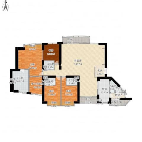 中粮海景壹号4室1厅5卫1厨373.00㎡户型图