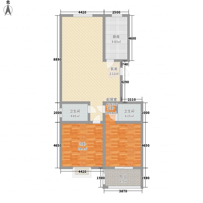 圣地・银星佳园151.65㎡K户型3室2厅2卫1厨