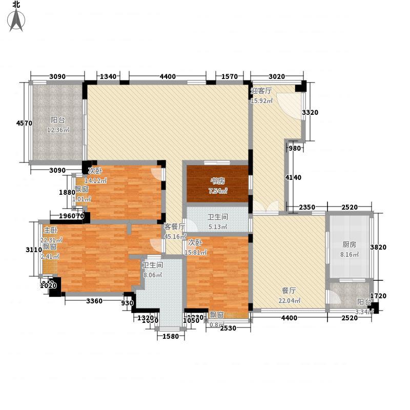 双水湾16.40㎡1单元01户型4室4厅2卫1厨