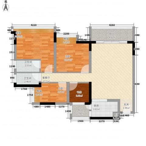 科尔玛城4室1厅2卫1厨75.32㎡户型图