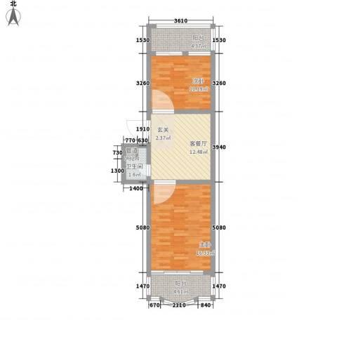鑫丰金园2室1厅1卫0厨69.00㎡户型图