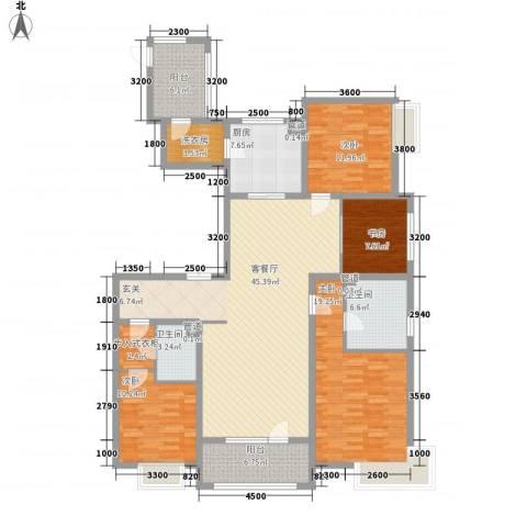 华发首府4室1厅2卫1厨177.00㎡户型图