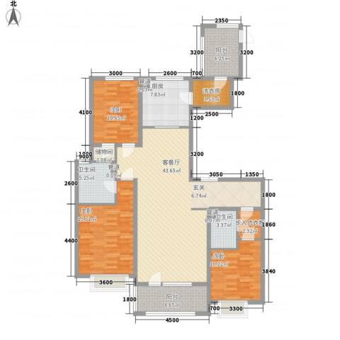 华发首府3室1厅2卫1厨157.00㎡户型图