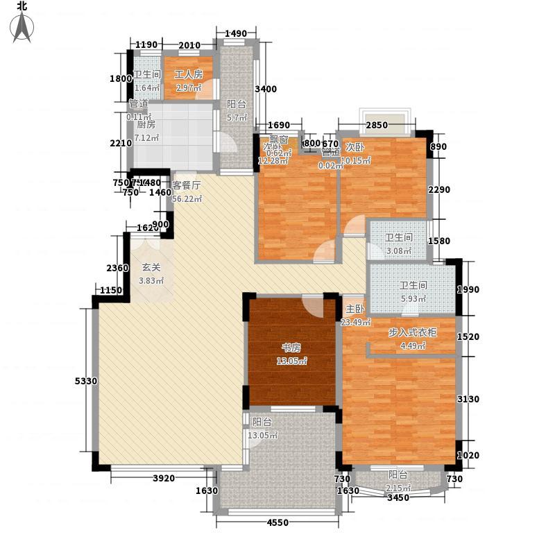 中旅国际公馆189.00㎡中旅国际公馆4室户型4室