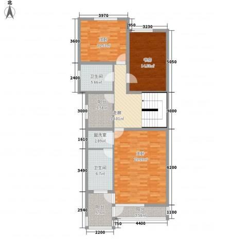 美好家园3室1厅2卫0厨137.00㎡户型图