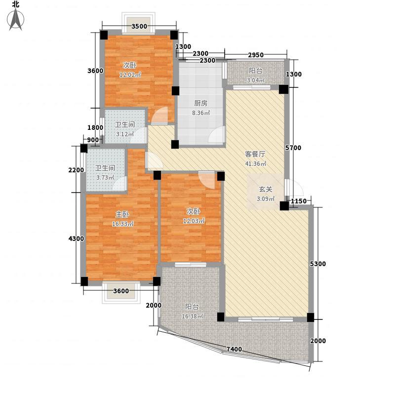 汇达花园120.00㎡汇达花园3室户型3室