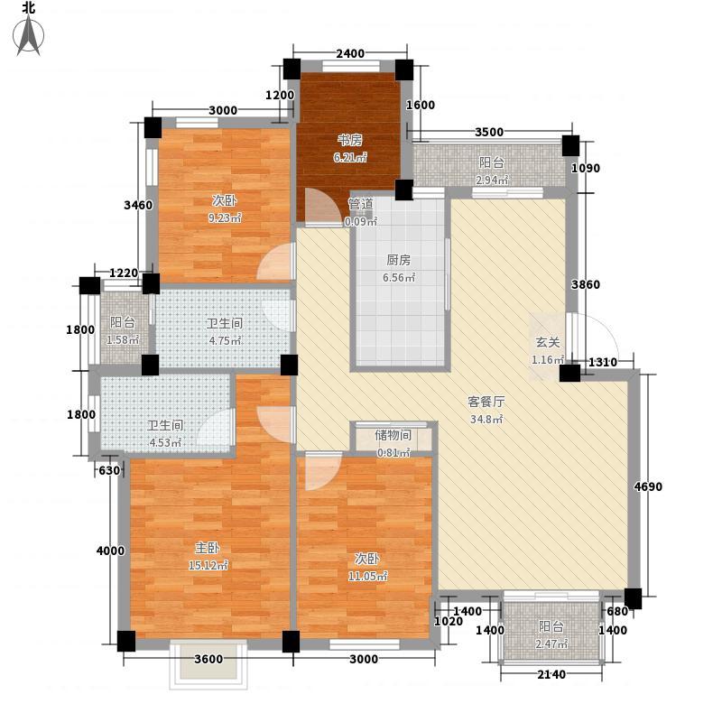 永达花园户型4室2厅2卫1厨