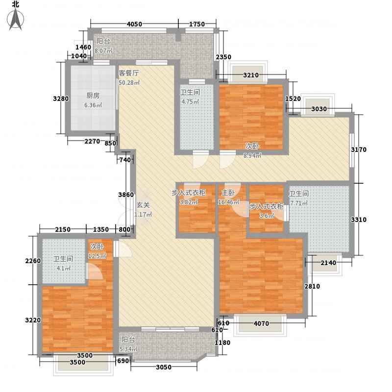国浩长风汇都C1户型4室2厅3卫