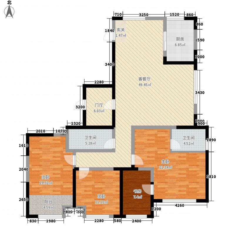 青建一品186.00㎡1号楼1F户型4室2厅2卫1厨